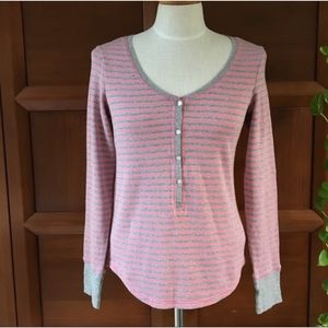 Victoria's Secret Pink Striped Thermal Top